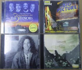 藤田惠美 KENNY G THE 3 TENORS  THE BIG PICTURE 旧版 港版 原版 绝版 CD