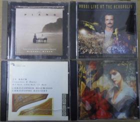 ENYA YANNI THE PIANO J.S.BACH  旧版 港版 原版 绝版 CD