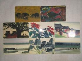 中华电信所出著名画家席德进绘画代表作电话卡,八张不重复合售。