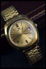 美国的二手表机械表手动上弦Waltham 华生男表17钻带日历功能良好