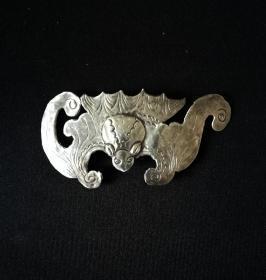 清代: 大型银蝙蝠,老银精品