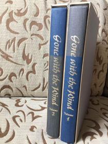Gone with the wind by Margaret Mitchell -- 《飘》玛格丽特 米切尔  Heritage 1968年出版 两卷本 函盒与sandglass俱全 超大开本 John Groth插画