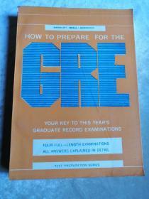 包邮 外文原版 HOW TO PREPARE FOR THE GRE