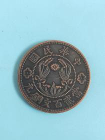 中华民国当二百文铜元铜板铜币