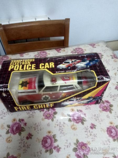老鐵皮玩具 消防指揮車