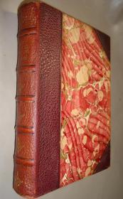 1885年 The Shi King 中国古诗经典《诗经》极珍贵早期英译本 3/4摩洛哥羊皮豪华古董书 增补插图 品佳