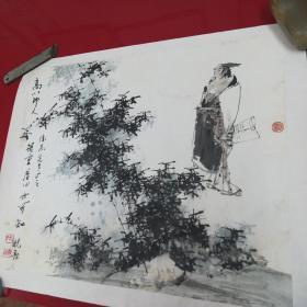 中国工艺美术大师,著名人物画家,张晓飞