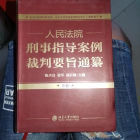 人民法院刑事指导案例裁判要旨通纂(上下卷)
