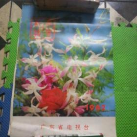 1982广东省电视台美女风景挂历