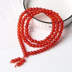 天然玛瑙0.6*108项链全长64.8厘米