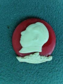 文革时期,塑料(夜光)毛主席《像章》