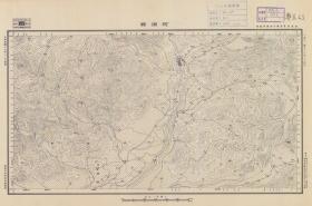 民国十九年(1930年)《河源县老地图》图题为《河源县》(原图高清复制),(河源老地图、河源地图、河源县地图、河源市老地图)民国军用图,参谋本部陆地测量总局测绘,全图年代准确,十万分之一比例尺,村庄、道路、寺庙、河流等绘制详细。此图种非常稀少。河源县地理地名历史变迁重要史料。裱框后,风貌佳。