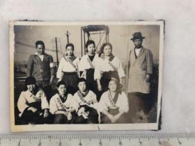 民国抗战时期日本国防妇人会妇女合影老照片