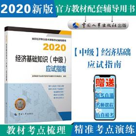 经济师中级2020 经济基础知识(中级)应试指南2020 中国人事出版社