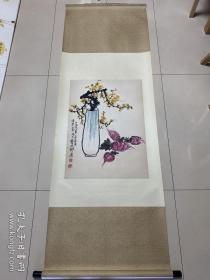 陈秋草--瓶花图