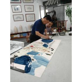 王西京作品纯手绘真迹收藏送礼极品赠鉴定证书合影照片书画袋: