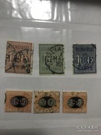 古典公事邮票2套 难寻 意大利1880-1890年代古典公事邮票,2组不同 上面目录价162.5美元 下面目录价74.5美元 后面网价 网价100元以上一枚 极难寻 打包一起便宜出 不单