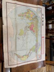 文革世界地图  带毛主席语录