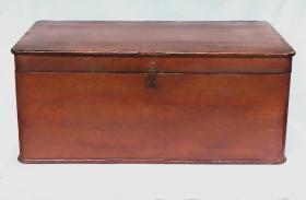文革木衣箱古董木雕手工杉木箱子木器收藏品