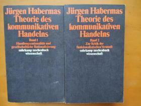 Theorie des kommunikativen Handelns (The Theory of Communicative Action) 沟通行动理论/交往行为理论 Jürgen Habermas 尤尔根 哈贝马斯/哈伯马斯