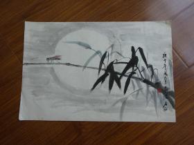 黄宾虹学生,常州藉著名老画家方.正(有款国画56)