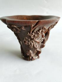 古玩杂项清代雕刻杯子