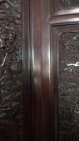 古董古玩紫檀老家具清代紫檀屏风