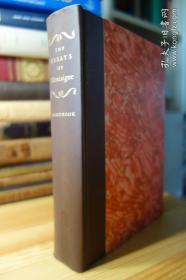 1946年 Heritage Press版 A Handbook to the Essays of Micheal De Montaigne