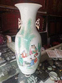 民国名家款竹林七贤人物故事题材大花瓶
