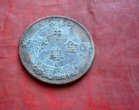 铜币  中华金币  湖南  洪宁元年开国纪念   一元   4CM