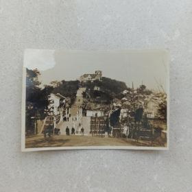 民国 三十年代 老照片 武汉 武昌 蛇山公园 左上角略伤 泛银