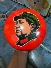 毛主席像搪瓷挂件 敬祝毛主席万寿无疆 包老包文革品相好