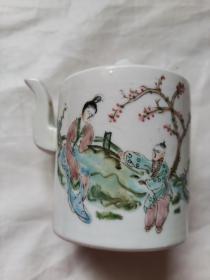 人物  茶壶  瓷器