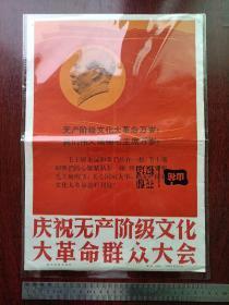 庆祝无产阶级文化大革命群众大会(新华社展览照片全套28张)