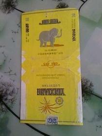 烟标:银象过滤咀香烟