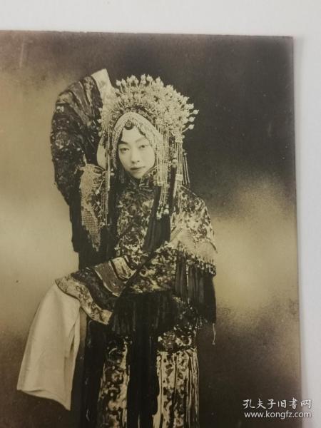 民国时期梅兰芳贵妃醉酒老照片一张