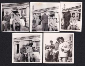 80年代东北地区结婚老照片5张(尺寸约4.2*5.6-5.7*5.8厘米)1346