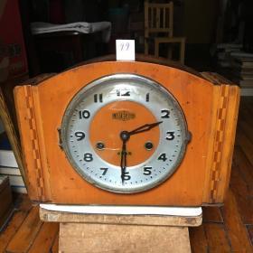 隆中牌旧机械座钟[玻璃损/长31CM.宽15CM.高21.5CM]99