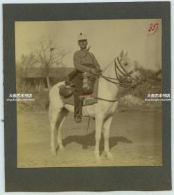 清代1900年代庚子事变时期,北京街头的八国联军骑兵老照片