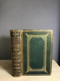 1896  The Poetical Works of John Dryden  插图本 全皮烫金 三边刷金 17.5*12.5cm