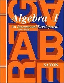 Algebra 1  Saxon正版数学教材