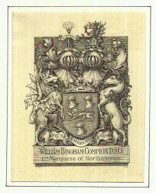 英国皇家御用藏书票大师--威廉,菲力普斯,巴雷特WILLIAM PHILLIPS BARRETT藏书票原作3