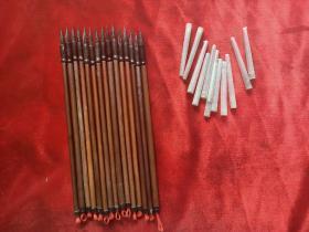 七、八十年代石獾毛笔15支