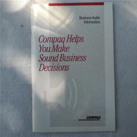 Business Audio Information Compaq Helps You Make Sound Business Decisions