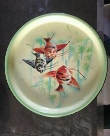 金鱼搪瓷盘2569