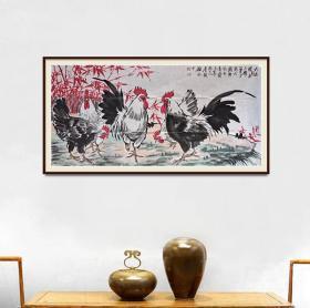 中美协会员李毅四尺整纸大吉图,有合影