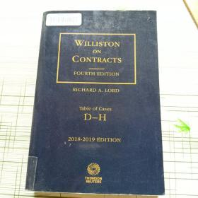 WILLISTON  ON  CONTRACTS  FOURTH EDITION  Table of Cases  D - H   2 0 1 8 - 2 0 1 9 EDITION 威利斯顿合同
