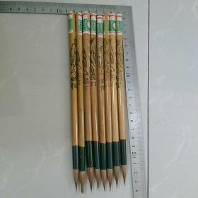 七八十年代库存毛笔,文锋牌〈小兰竹〉~中国制造,8枝合售。杆长约19.5㎝,直径0.7㎝。几十年前的物品,请要求严格者,慎购……