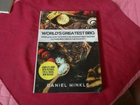 英文原版影印美食书籍:100个熏肉食谱完整指南【WORLDS GREATEST BBQ】《世界上最棒的烧烤》16开本,内带制作过程及食材配比等,内带插图