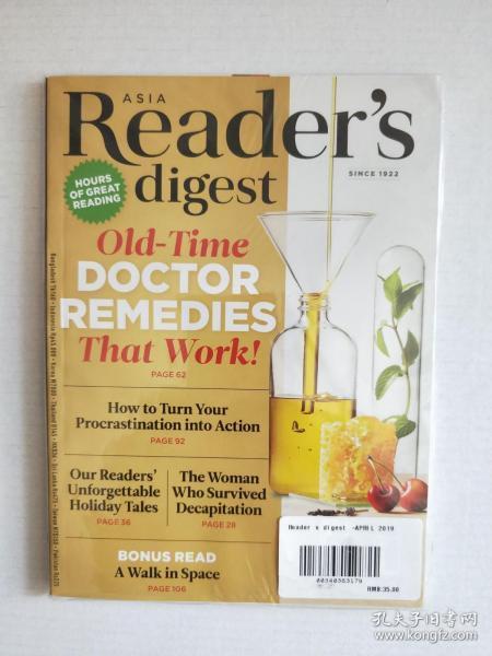 英文版 Reader's Digest APRIL 2019(美国读者文摘)